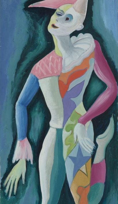 FRANDSEN  Le Clown sur toile 120X60cm