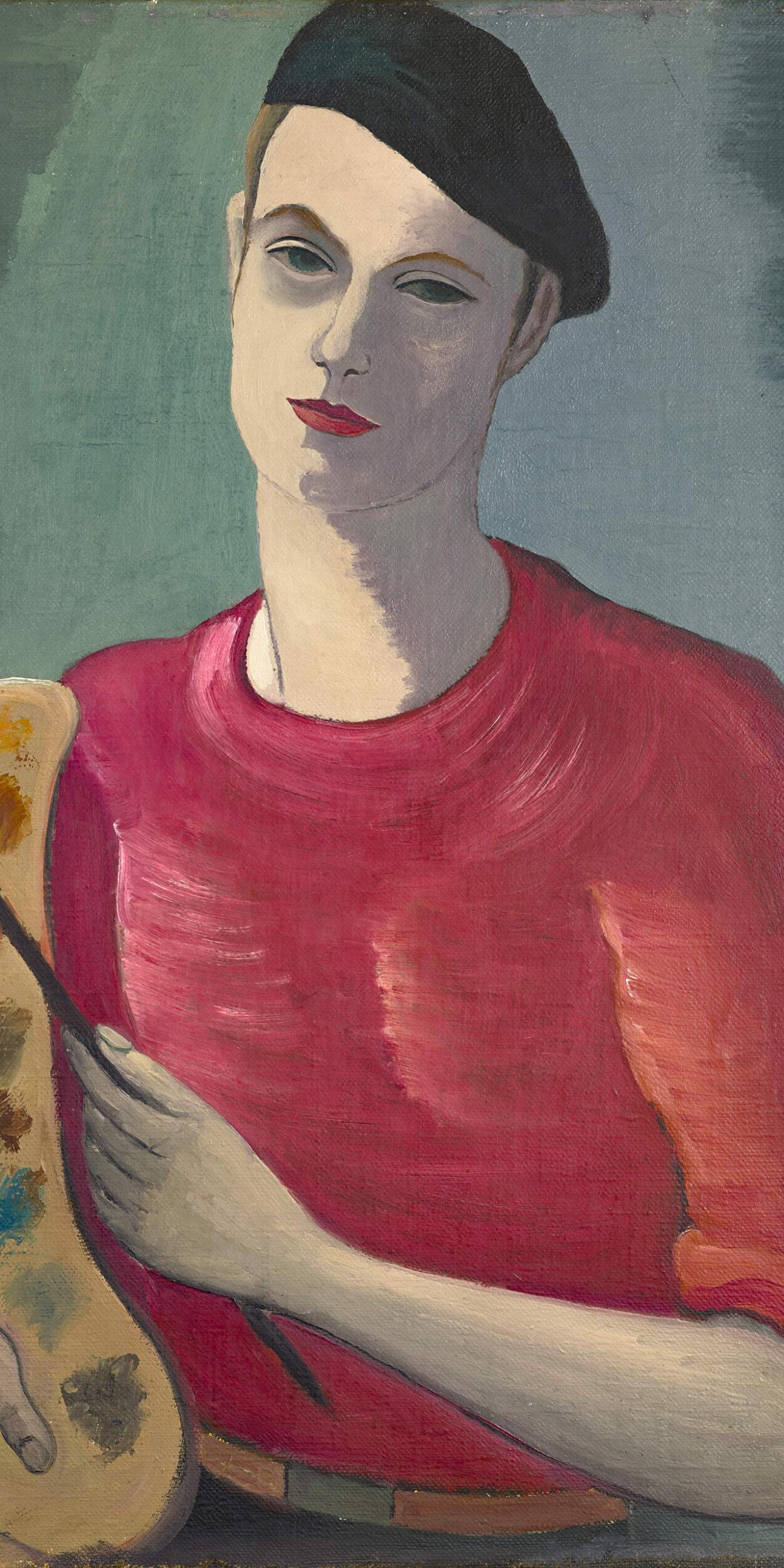 FRANDSEN  autoportrait   sur toile 25F